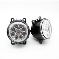 2pcs Car Styling Round Front Bumper LED Fog Lights DRL Daytime Running Driving Blue For MITSUBISHI