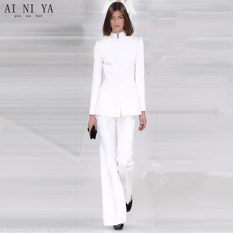 Formal Women Suit Pants Elegant Professional Business Uniforms Woman Office Suit Top and Pant Set Costume Femme Affaire Slim Fit