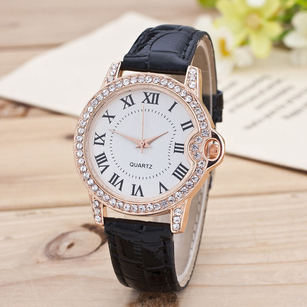 High Quality Ladies Watches Fashion New Geneva Women Watch Leather  Stainless Steel Quartz Analog Wrist Watch Top Gift 999