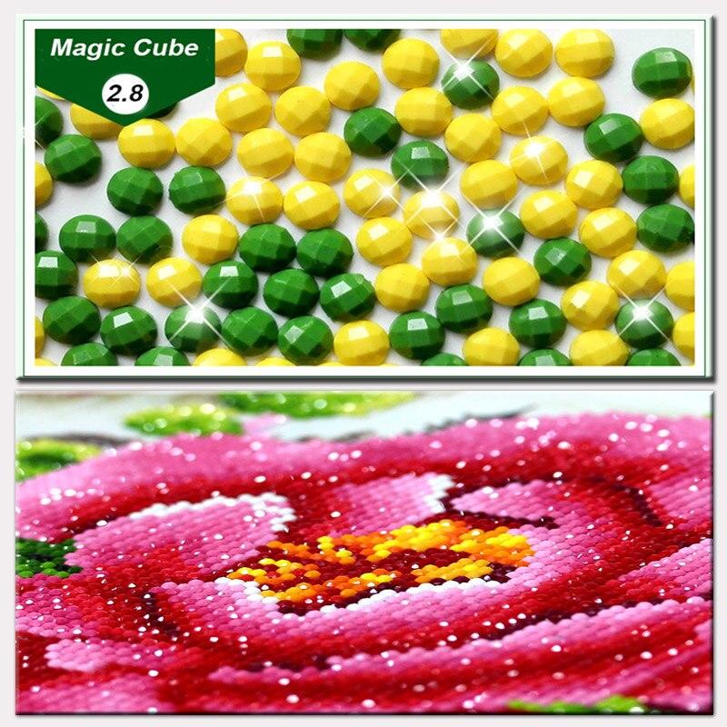 Broca el jarrón de flores brillante bordado de diamantes floral 3d - Artes, artesanía y costura - foto 2