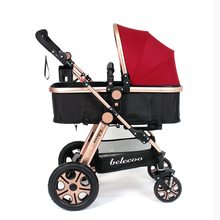 Deluxe Baby Stroller,Baby Prams Pushchairs,Portable Baby Carriage Strollers Ultralight Infant Pushchair Folding Pram for Newborn