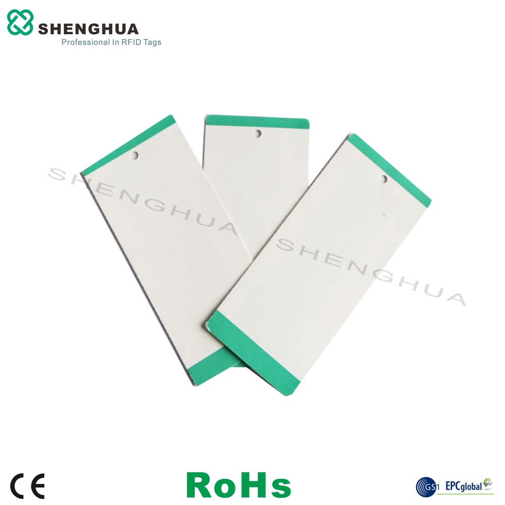10pcs/pack OEM Printable RFID UHF Clothing Garment Hang Tag RFID Laundry Tag  Programmable UHF Cloths Rfid Ticket For Retail
