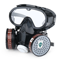 Respiradores de máscara De Gas químico con gafas de máscara de Ojos nariz y boca de pesticida siameses máscara gafas de Seguridad Laborinsurance