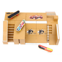 8 шт. скейт-парк комплект рампы Запчасти для Tech Deck гриф скейтборды для пальцев Новинка и кляп игрушки для детей