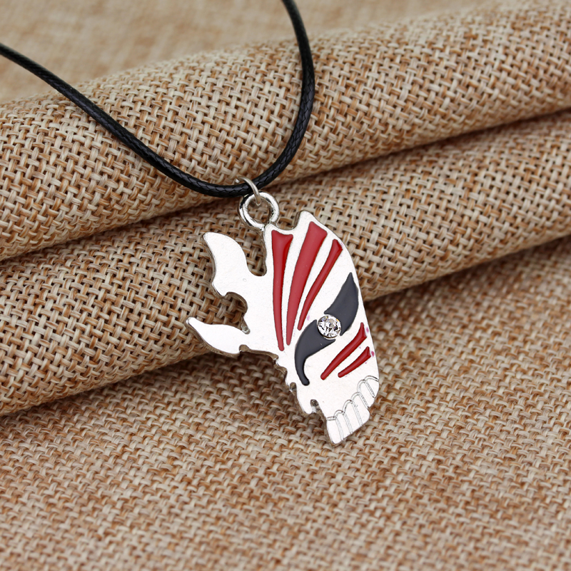 Drop Shipping BLEACH mask Necklace HOT Anime Trendy Fashion Statement New Design Punk Cosplay Jewelry Christmas Gift