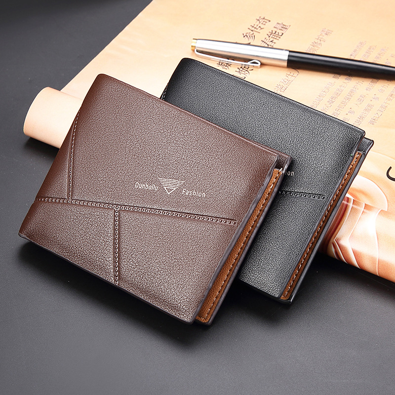 2018 Fashion Slim Men's Wallets Top Quality Purses Card Holder Multi Pockets Credit Coin Purse PU Leather  Casual Short Wallet