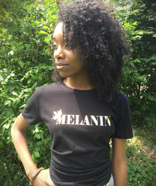 Melanin Gold T-Shirt Feminist Casual Cotton Gold Crown Melanin Tee Hipster Short Sleeve Summer Gifts Crewneck Tumblr Graphic Top