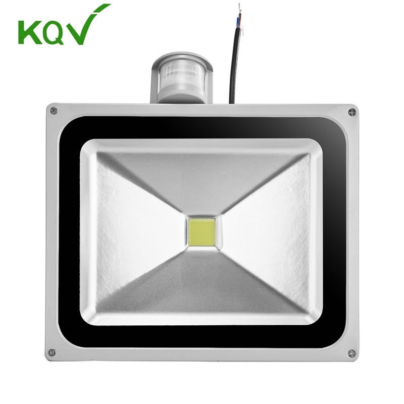 Led Flood Light Lamp 50w Pir Motion Detective Sensor 110