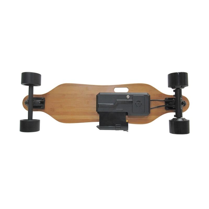 2019 Nouveau Amovible skateboard électrique Électronique mini Longboard télécommande trottinette électrique 350 W * 2 Hub-Moteur - 5