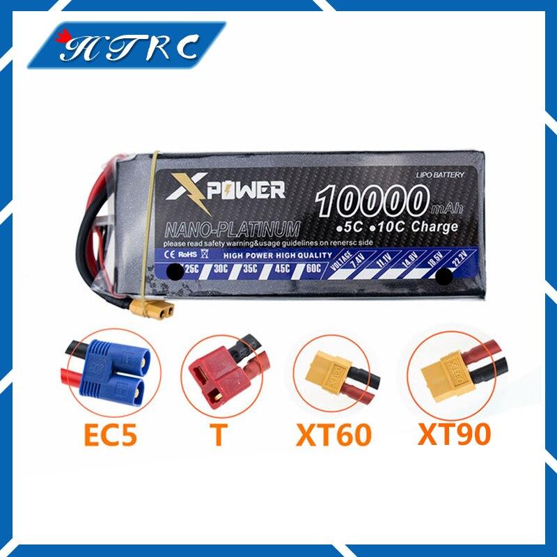 14.8V 10000mAh 4S Lipo batterie 30C max 35C Xpower XT60 T EC5 XT90 plug pour rc drone Hlicoptre Avion pices все цены