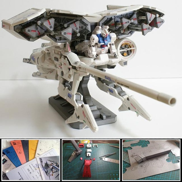Paper Model Gundam RX-78 GP03 Mobile Armor System Dendrobium gundam 1 meter long 3d diy puzzle manual collection papercraft toys