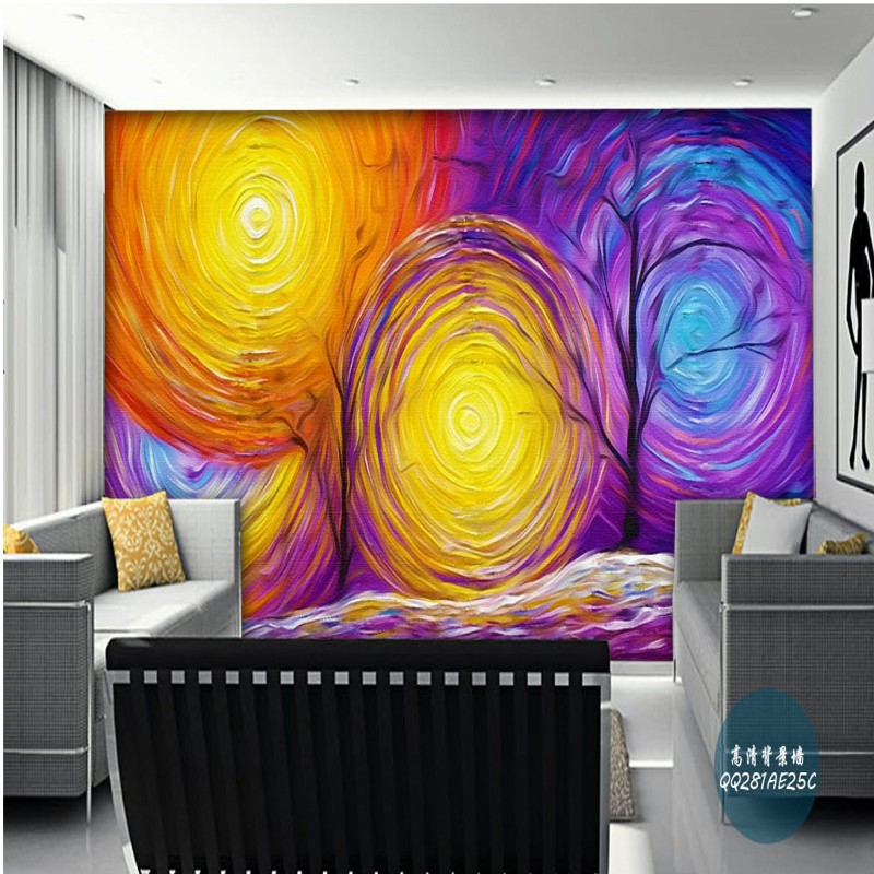 Free Shipping 3D Galaxy Cosmic Star Abstract Impressionism wallpaper entrance corridor bedroom mural