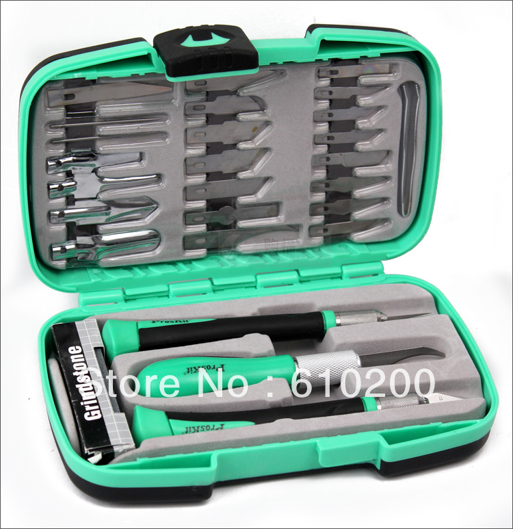 Free Shipping PD-395A Proskit Multifunctional knife woodworking tools Set for carving tools Wood carving tools the knife kit 1pcs freeshipping wood carving knife round billet knife wide 3 3cm