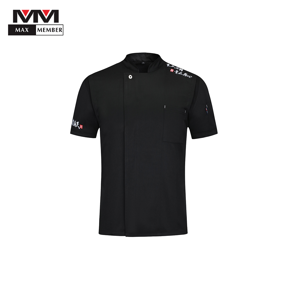 2019 High Quality Food Service Short Sleeve Uniform Restaurant Workwear Chef Jacket Kitchen Chef Jacket Uniforms Cook Clothes