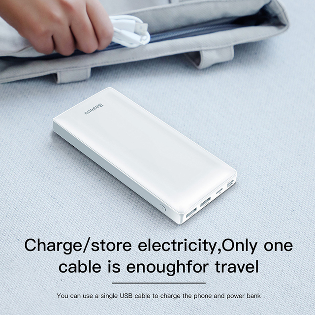 Baseus Power Bank 30000mAh Powerbank USB C Fast Poverbank For Xiaomi iPhone 12 Pro Portable External Battery Charger Pover bank 4