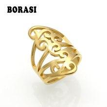 Borasi женские кольца из нержавеющей стали очаровательные на