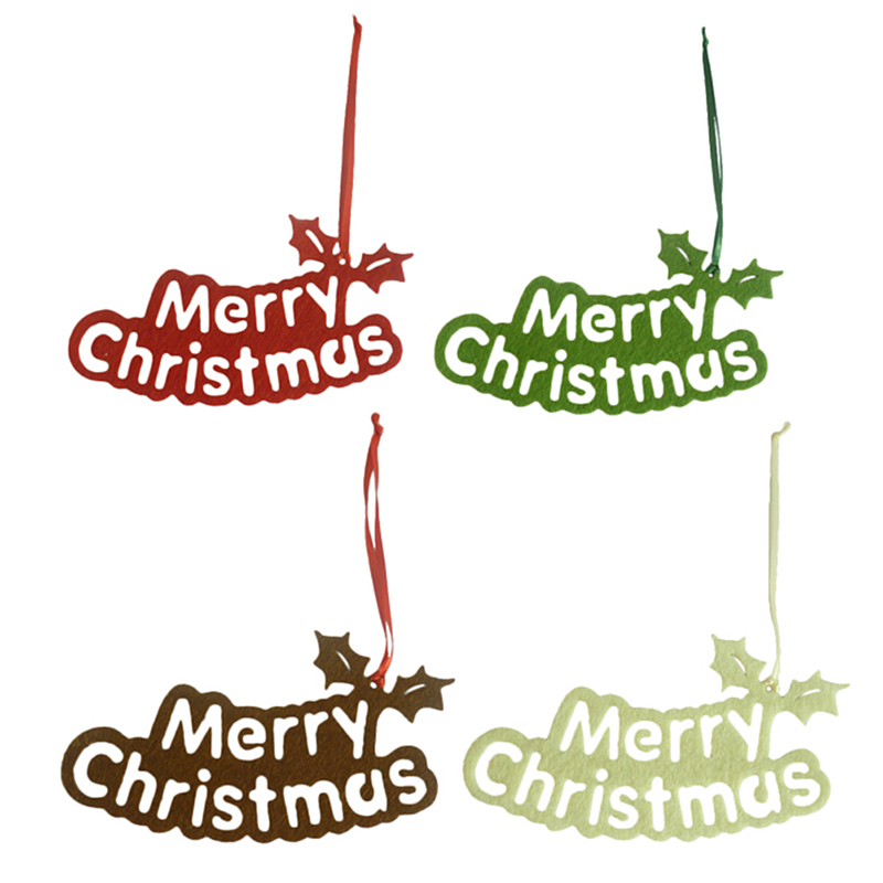 6pcs Small Christmas Tree Hanging Pendant Cute Marry Christmas Letter Tree Decorative Ac ...