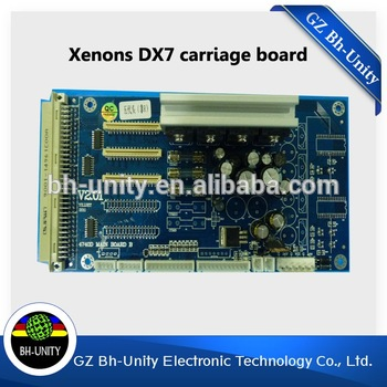 все цены на New and High Quality!Large format printer Xenons DX7 Carriage Board for solvent printing machine selling онлайн