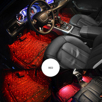 Car Atmospheres Lamp LED Interior Foot Light Ambient USB Decoration Sound Control Car Styling