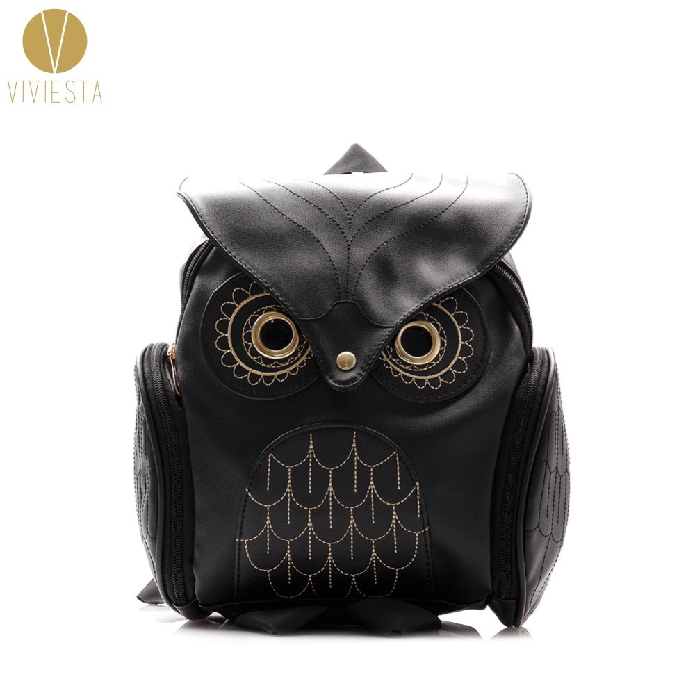 STYLISH GOTHIC OWL BACKPACK - Womens 2018 Summer Fashion PU Leather Girls Cute Lovely Fun Novelty Cartoon Animal School Bag