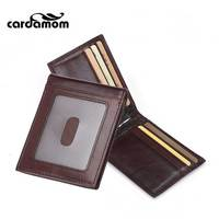 Cardamom Retro Male Card And ID Holder 2 Discount Casual Wallets Open Style Genuine Leather Birthday