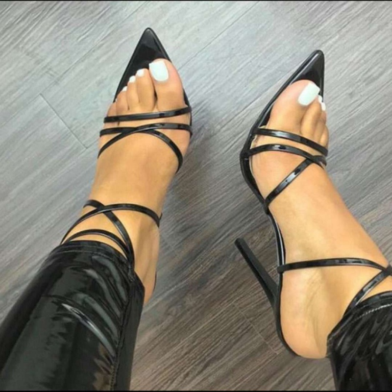 cross strappy sandals gladiator sexy