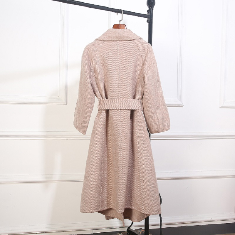 100 La Ceinture Des Gris khaki Chaud amp; Manteau green Face Gray Laine Manteaux À D'hiver Plus Vert Double Cachemire Taille Kaki 2018 Femmes Outwear 6wR6q
