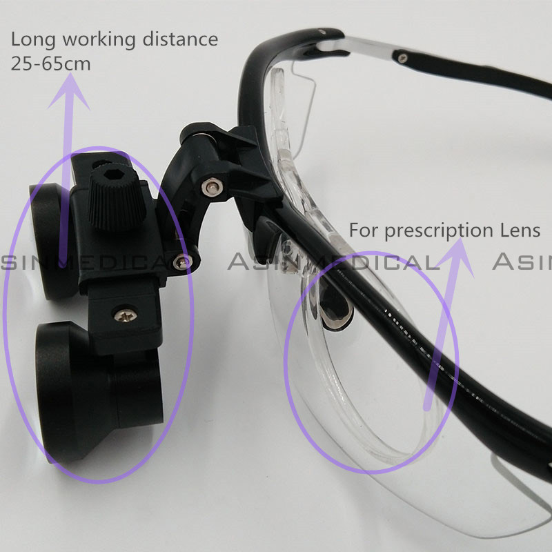 2016 new design Loupes with inner frame for prescription lens long working distance Galileo Magnifier with Surgical Magnifying