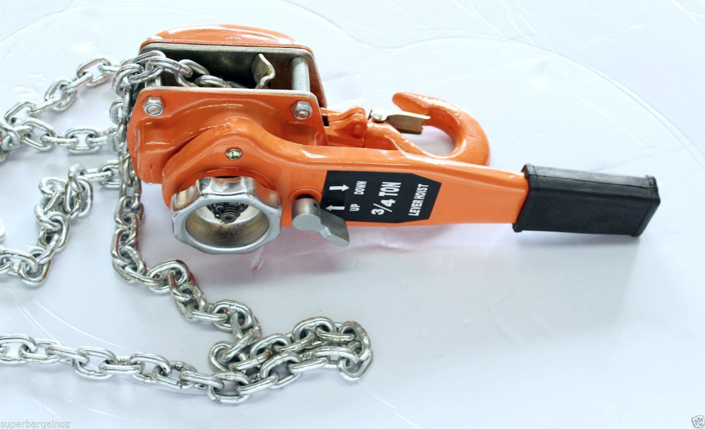 Brand New Arrival: 3/4 Ton 750kg 3m Chain Lever Lift Hoist Block Manual Operated brand new yzlh007 3
