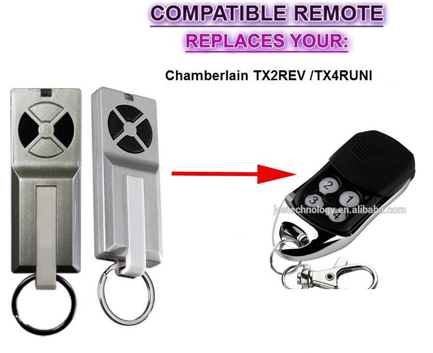 For Chamberlain TX2REV / Chamberlain TX4RUNI compatible remote control