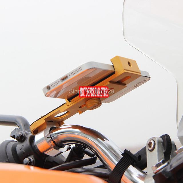 Gw250 motocicleta dirtbike bicicleta soporte para teléfono de aluminio mirage navegación navegador soporte de aluminio soporte soporte para teléfono móvil