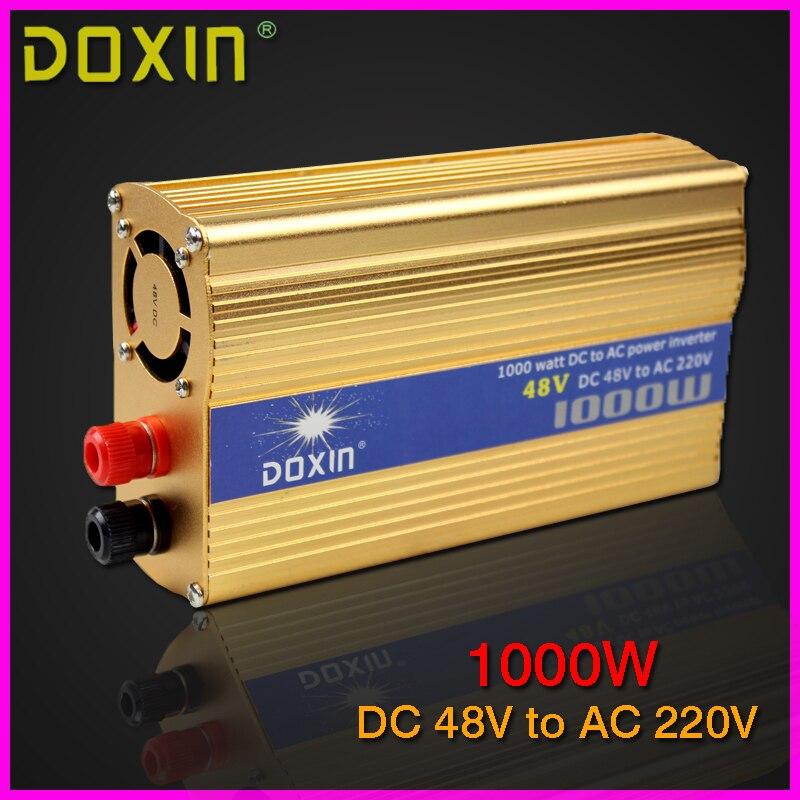 цена  DOXIN 1000W household car power inverter converter DC 48V to AC 220V car battery charger Adapter Car Power Supply ST-N044  онлайн в 2017 году