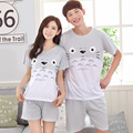 2017 - Summer Style Grey Totoro pattern Couple Home wear