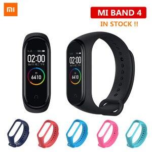 Image 1 - המניה שיאו mi mi Band 4 מקורי 2019 החדש מוסיקה חכם mi band 4 צמיד קצב לב כושר 135mAh צבע מסך Bluetooth 5.0