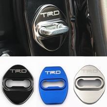 Автомобильный Дверной замок с эмблемами, автомобильный Стайлинг для toyota corolla rav4 auris prius camry Prado, автомобильные аксессуары, автомобильный Стайлинг, 4 шт./лот