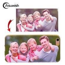 Asuwish персонализированные пользовательские силиконовый чехол для Oukitel U7 плюс U7plus 5.5 телефон Чехол прозрачный Мягкие TPU крышка DIY Фото имя