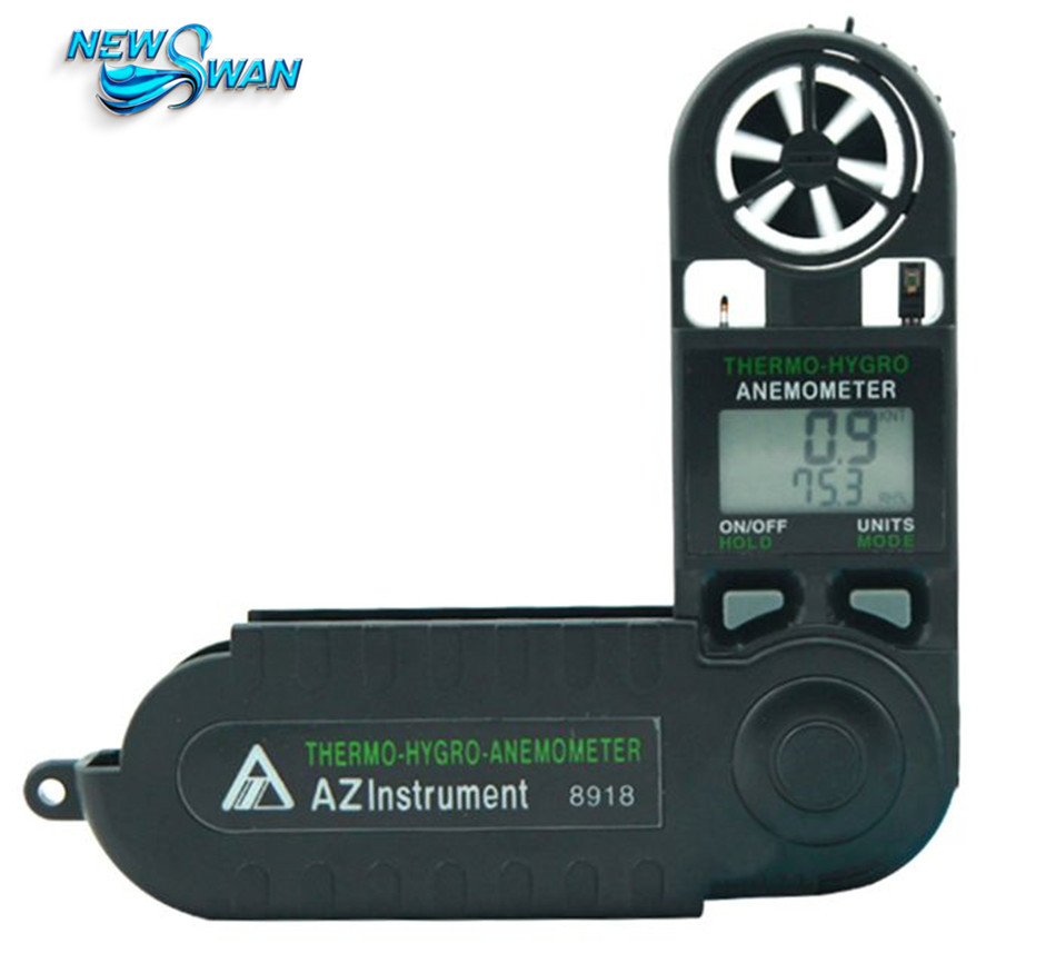 AZ8918 Digital Anemometer Mini Wind Speed Meter Mini Type Thermometer Hygrometer Digital Anemometer