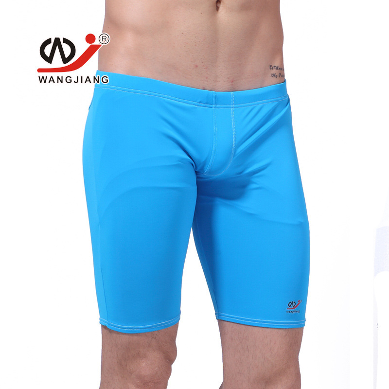 2018 mens Swimming trunks cycling pants in the fitness pants solid Professional Quality Men Competitive Swimwear