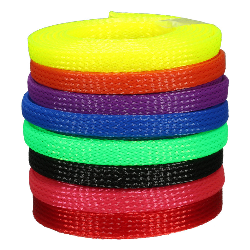 1m 6mm Braided Cable Sheathing Wire Tidy Mesh Sleeving Sheathing Wire Harnessing New Arrival