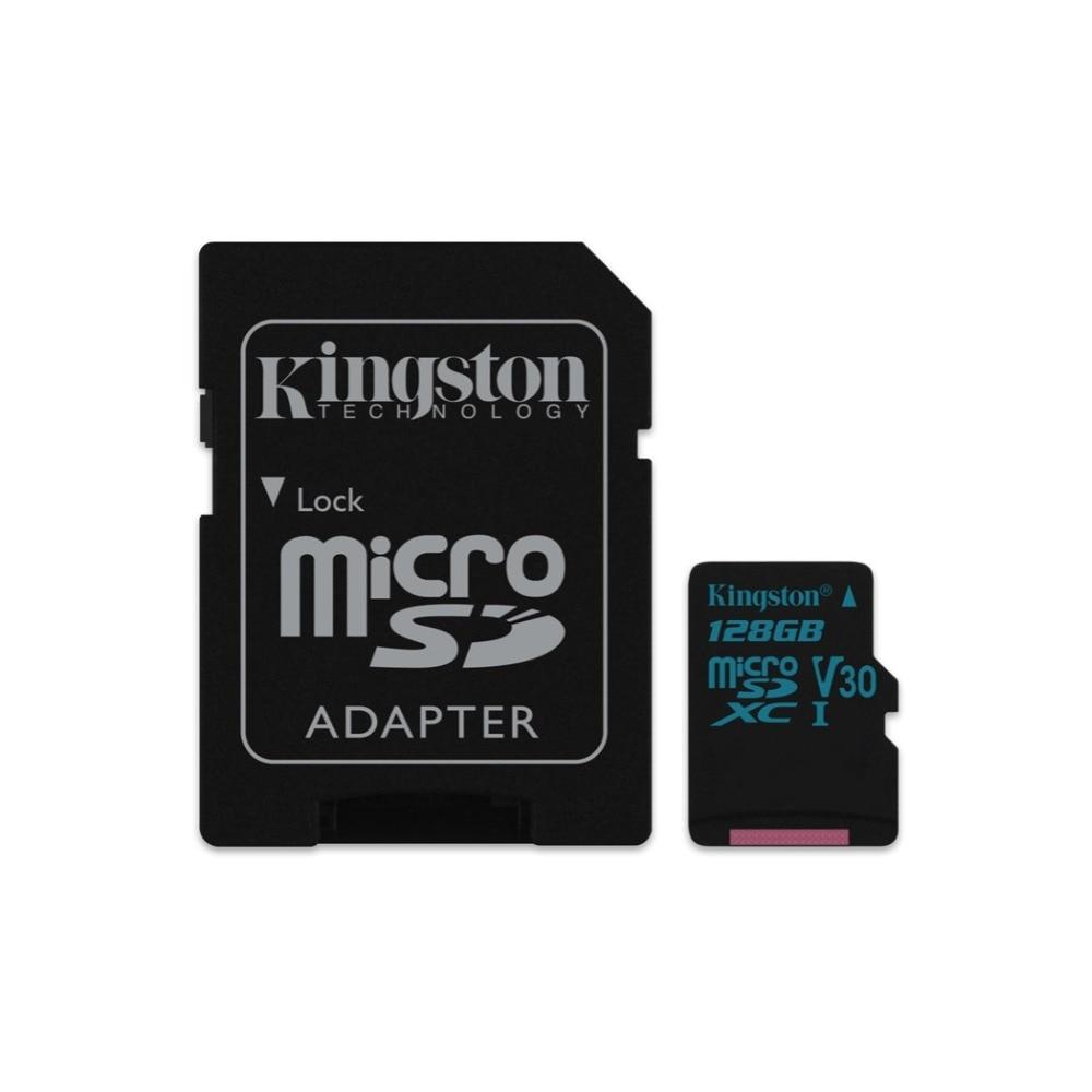 Kingston Technology Canvas Go!, 128 GB, MicroSDXC, Clase 10, UHS-I, 90 MB/s, Negro