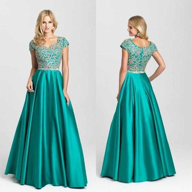 6077848f1 Elegante Verde Color de Rosa Negro Largo Del Vestido de Noche 2016 V Cuello