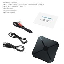 2in1 Stereo Audio Bluetooth Transmitter Receiver For Mobile Phones PC Laptop Car