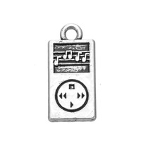 New Fashion Alloy Silver Cute MP3 Charms DIY Accessories For Bracelet & Necklace Jewelry 50PCS/lot