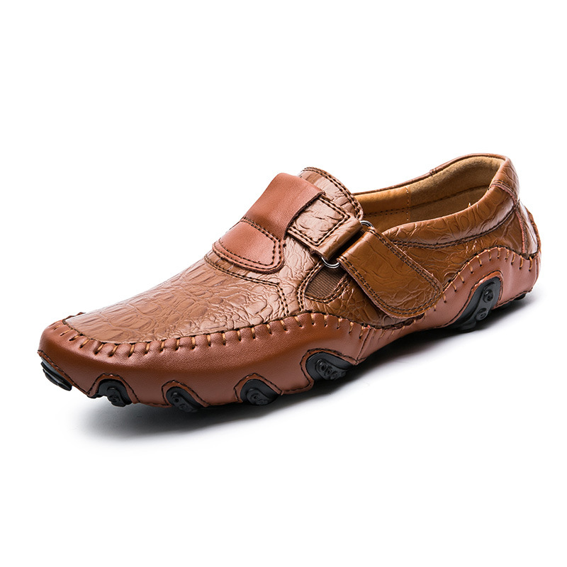 Men Loafers Shoes Moccasins Comfortable Designer Luxury Brand New on Soft 47 Lazy-Slip