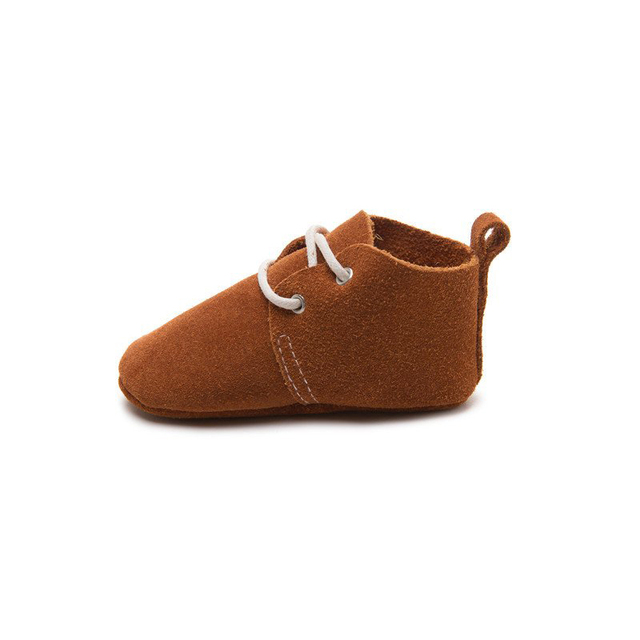 Handmade Brown  Baby Oxford Moccasins with soft sole