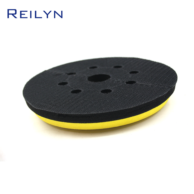 Reilyn Pneumatic Accessories 7 Inch Perforated Suction Cup Steel Paper Tray ABS+Sponge High Quality Suction Cup Grinding Disc