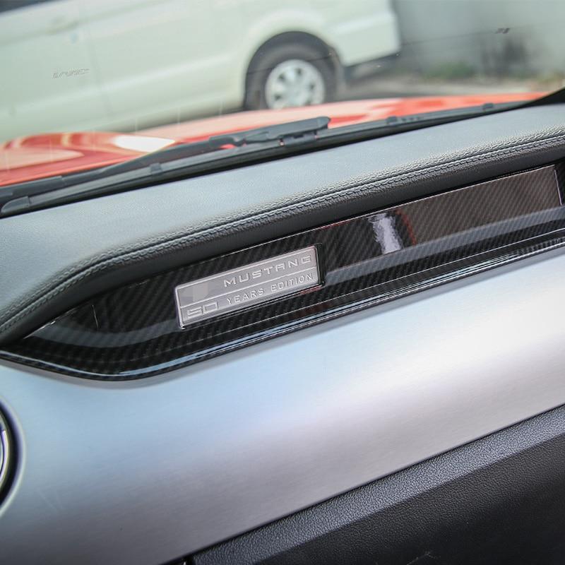 Image 4 - MOPAI Автомобильный Интерьер Литье Copilot сиденье украшение приборной панели полосы отделка ABS наклейки для Ford Mustang 2015 до стайлинга автомобилей-in Лепнина для интерьера from Автомобили и мотоциклы
