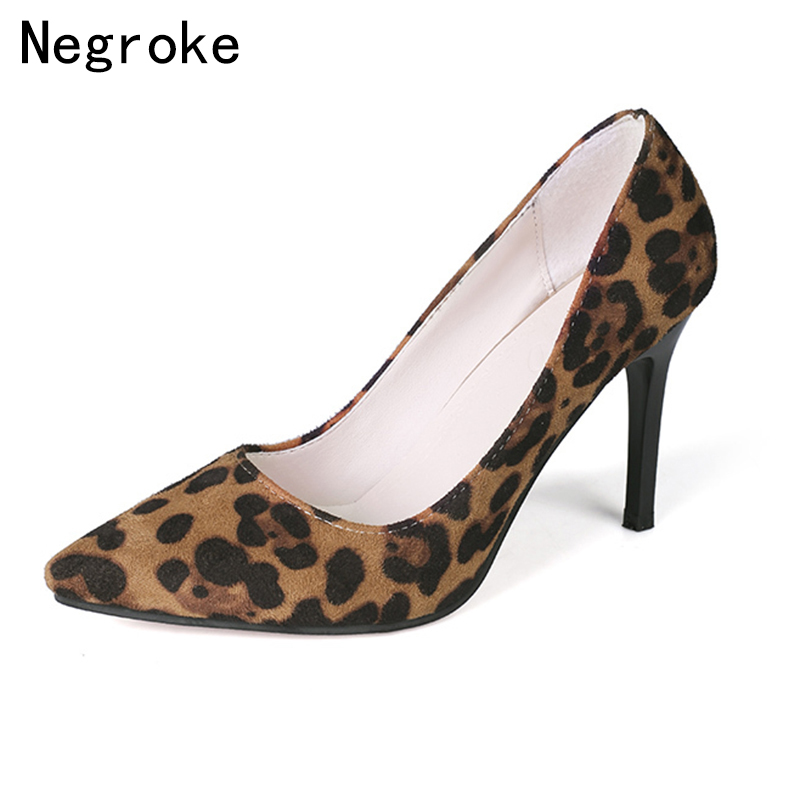 Sexy Leopard Women Pumps High Heels Pointed Toe Office Lady Wedding Shoes Woman Stiletto Casual Dress Shoes Sapato Feminino 9CMSexy Leopard Women Pumps High Heels Pointed Toe Office Lady Wedding Shoes Woman Stiletto Casual Dress Shoes Sapato Feminino 9CM