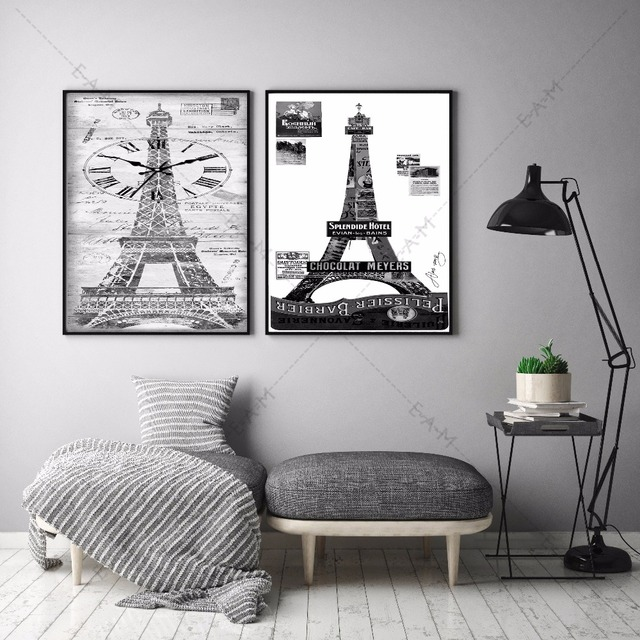 Direct Eiffel Tower Paris Canvas Art Print Painting Poster Wall ...