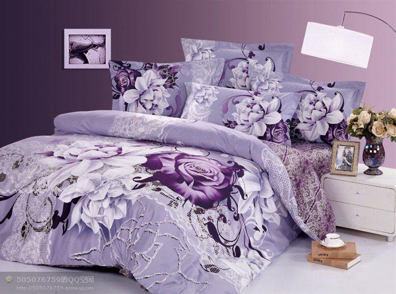 Light Purple Lilac Comforter Novocom Top, Light Purple Queen Bed Set